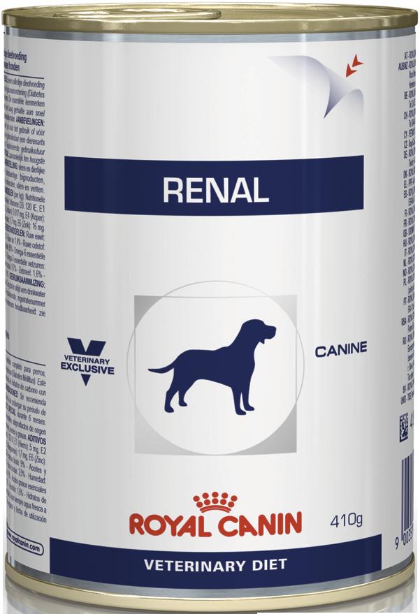 Лечебный корм для собак с почечной недостаточностью Royal Canin RENAL CANINE Cans 0,41 кг