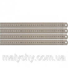ЛИНЕЙКА 30 СМ, металлическая / лінійка металева