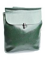 Рюкзак женский кожаный зеленый 8504-2 Green