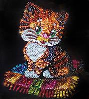 "Мозаика из пайеток ""Котёнок"", Пм-01-13, фото 1"