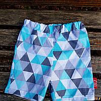 Детские шорты бирюзовые треугольники