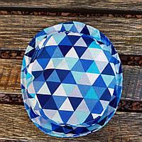 Детская панама треугольник синий