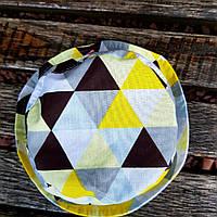 Детская панама желтый триугольник
