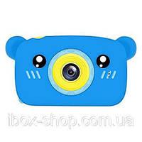 Детский цифровой фотоаппарат Smart Kids Cam TOY 9 Bear Blue Full HD