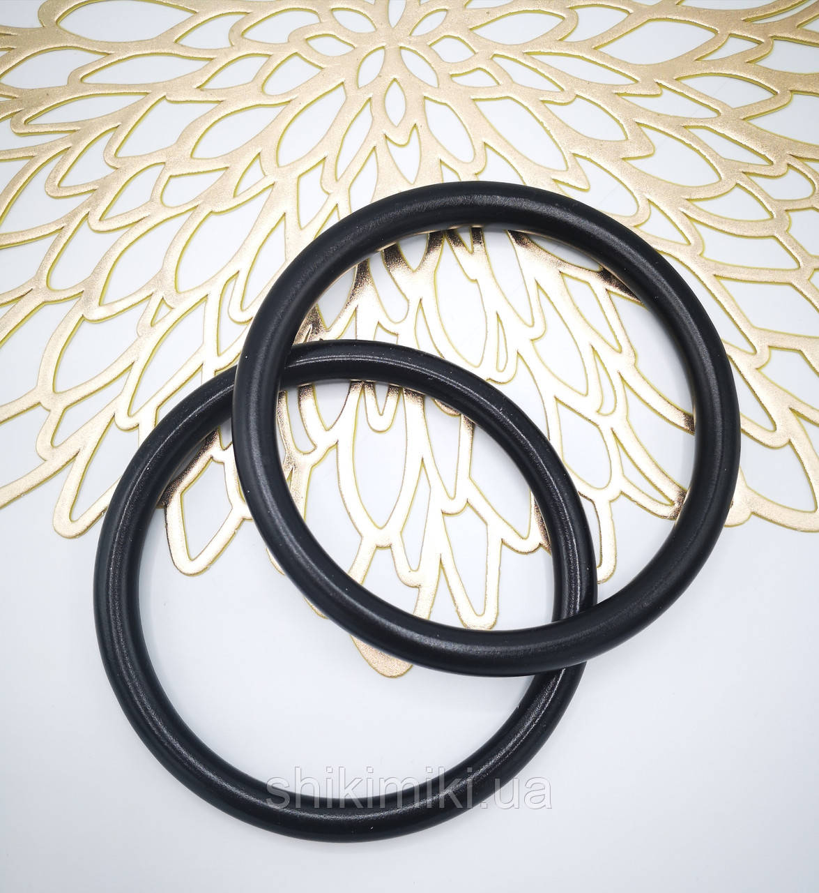 Ручки-кольца для сумок деревянные, цвет Черный