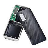 Повербанк пластиковий з дисплеєм (без акумуляторів 18650 х 5 шт), фото 5