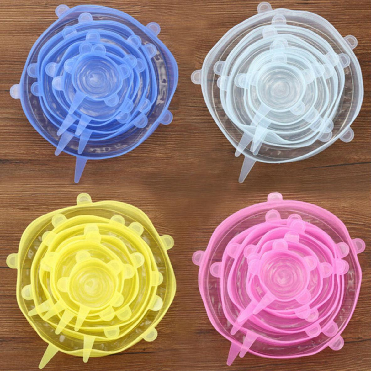 Силіконові кришки для посуд (набір 6 шт)