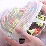 Силіконові кришки для посуд (набір 6 шт), фото 5