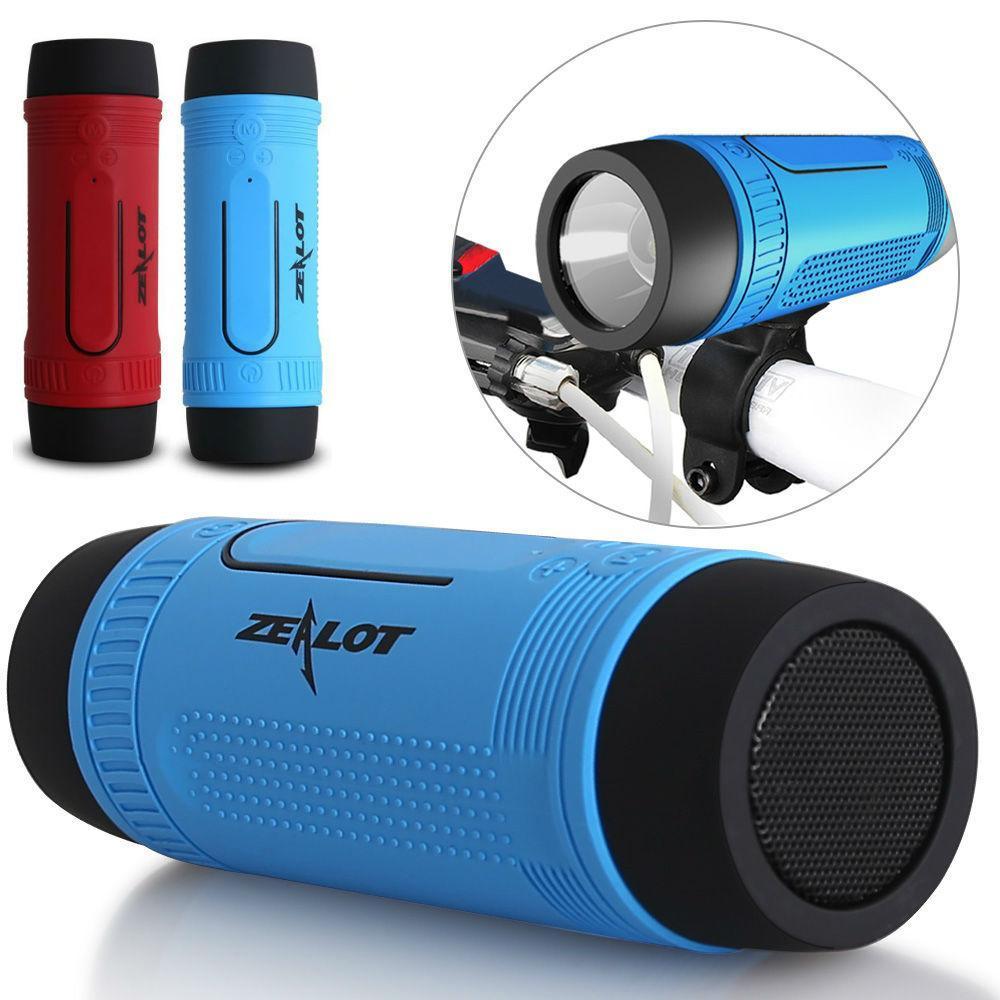 Бездротова велосипедна bluetooth колонка, ліхтарик Zealot S1