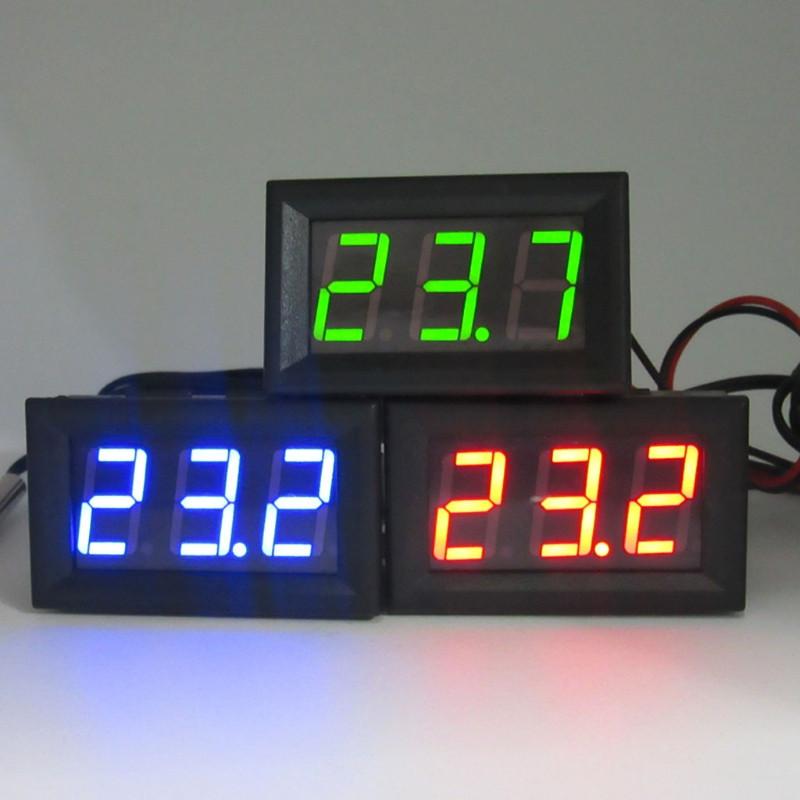 Цифровий термометр з виносним датчиком, 12 В