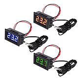 Цифровий термометр з виносним датчиком, 12 В, фото 2