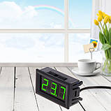 Цифровий термометр з виносним датчиком, 12 В, фото 5