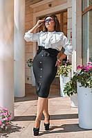 Женский костюм / креп костюмный, софт / Украина 40-02050, фото 1