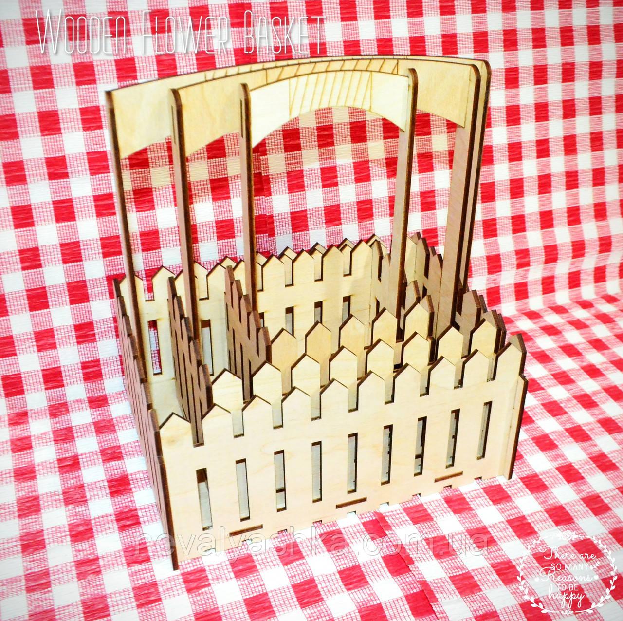 Комплет из Декоративных Деревянных Корзинок 3шт для оформления цветов букетов дерев'яні корзини для квітів