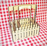Комплет из Декоративных Деревянных Корзинок 3шт для оформления цветов букетов дерев'яні корзини для квітів, фото 1