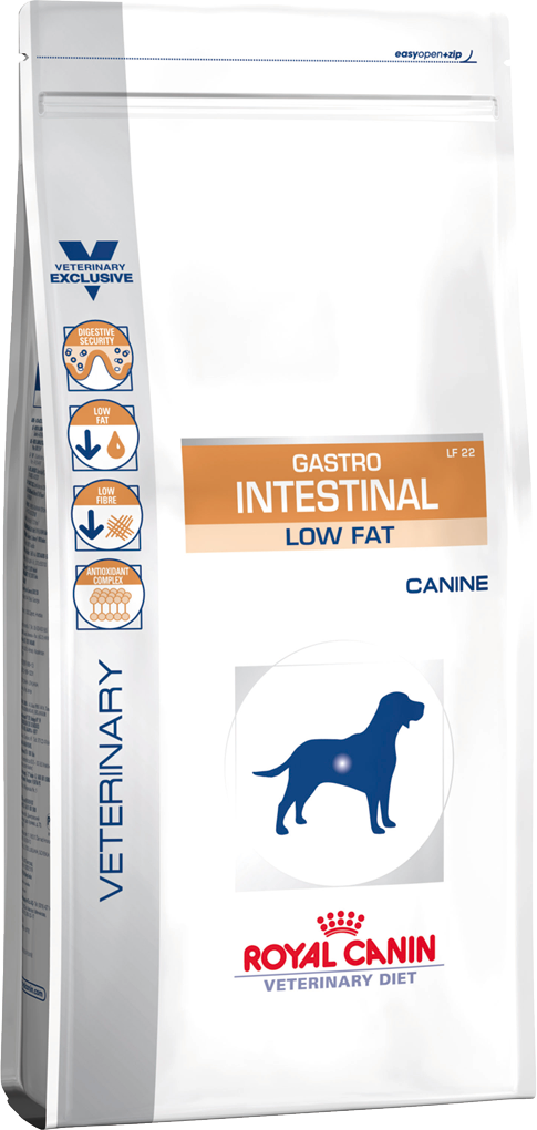 Лечебный корм для собак с нарушением пищеварения Royal Canin GASTRO INTESTINAL LOW FAT CANINE 12 кг