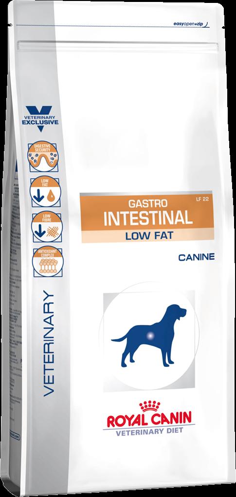 Лечебный корм для собак с нарушением пищеварения Royal Canin GASTRO INTESTINAL LOW FAT CANINE 1,5 кг