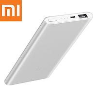 Оригинальный повербанк Xiaomi Mi Power Bank 2 5000 mAh PLM10ZM Silver (VXN4226CN)