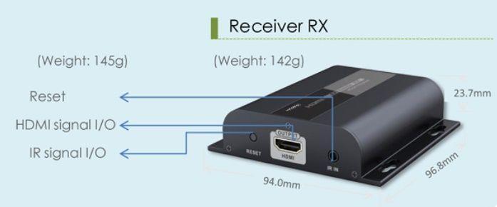 Lenkeng LKV383-RX - приемник сигнала HDMI по витой паре
