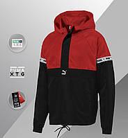 Мужская куртка Puma XTG Savannah (ориг.бирка) красный/черный