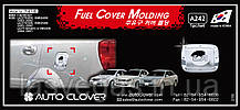 Хром-накладки на лючок бензобака Chevrolet Lacetti 2004- 4d sed