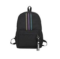 Рюкзак городской молодежный Kaila Black Черный светоотражающий