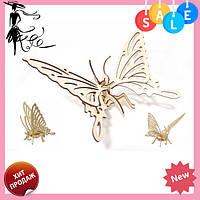 "Пазл 3DK-00-4 3D ""Бабочка"" | пазл из дерева | пазлы для детей | деревянный 3D пазл | 3Д пазлы"