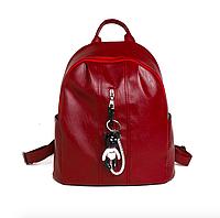 Рюкзак женский кожазам Nikki бордовый с брелком