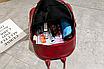 Рюкзак женский кожзам Nikki бордовый с брелком, фото 7