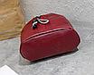 Рюкзак женский кожзам Nikki бордовый с брелком, фото 8