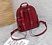 Рюкзак женский кожзам Nikki бордовый с брелком, фото 6