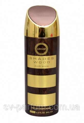 Парфюмированный дезодорант мужской Shades Wood 200ml