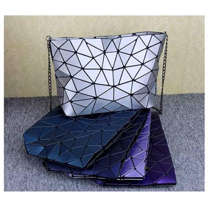 Женская сумка в корейском стиле с геометрическим рисунком под драгоценный камень