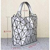 Женская сумка большая в корейском стиле с геометрическим рисунком, фото 2