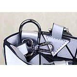 Женская сумка большая в корейском стиле с геометрическим рисунком, фото 3
