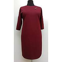 Платье женское осеннее большого размера нарядное 58 (54, 56, 60) батал для полных женщин № 381.