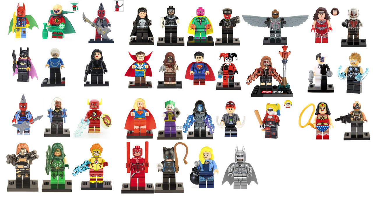 Фигурки Marvel DC лего супергерои Lego Бэтмен муравей  Флэш Супермен
