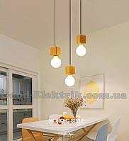 Люстра деревяння лофт - индастриал NORDIK-1-03