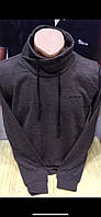 Мужские турецкие однотонные свитера с воротником хомутом