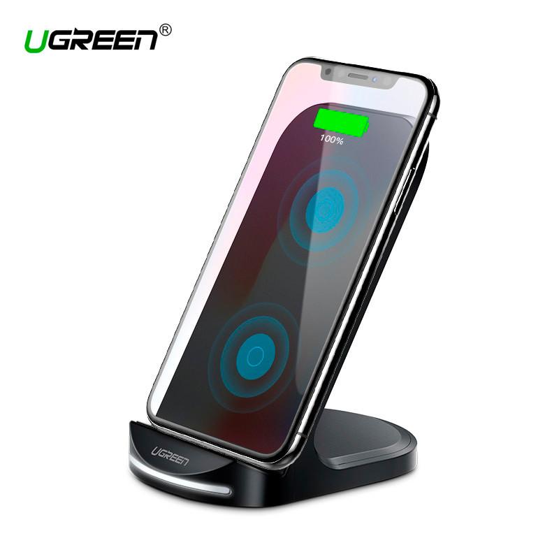 Беспроводное зарядное устройство Ugreen Qi Desktop Wireless Charging ED025 (Черное)