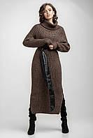 Вязанное женское платья бронзовое, фото 1