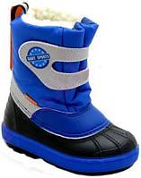 Зимние сапожки с натуральным мехом для мальчика Demar  Baby Sports 28-29р - 19см
