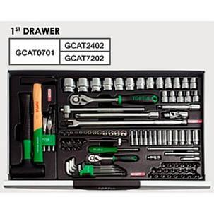 Тележка с инструментом 7 секций 157 ед., GCAJ0060 TOPTUL, фото 2
