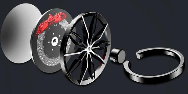 Кольцо-держатель для телефона Baseus Wheel Ring Bracket SULG-B1S (Черное)