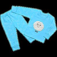 Детская пижама голубая с овечкой , Размер детской одежды 134