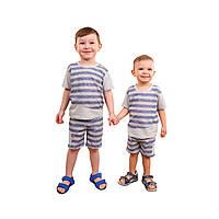Костюм на лето для мальчика Полоска, Размер детской одежды 122