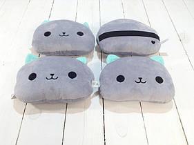 Набор подушек для автомобиля Strekoza котенок Айси 20 см серый