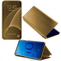 Чехол-книжка CLEAR VIEW Samsung J2 Core 2018 J260 золотистый