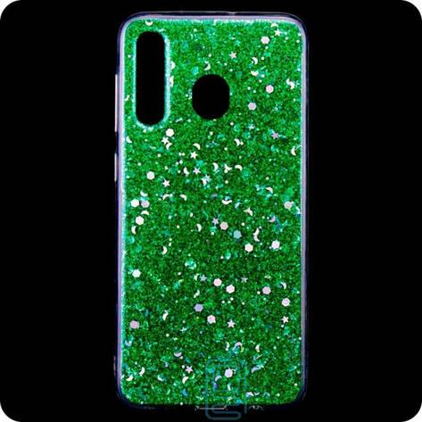 Чехол силиконовый Конфетти Samsung M30 2019 M305 зеленый, фото 2