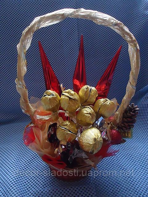 """Букет из конфет""""Красное золото"""""""
